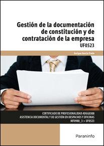 Gestion de la documentacion de constitucion y de contrataci