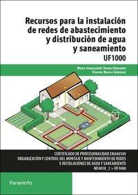 Recursos para instalacion redes abastecimientos distribucio
