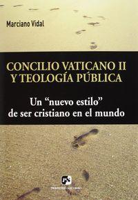 Concilio vaticano ii y teologia publica