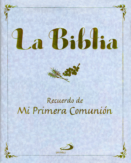 Biblia nacarada recuerdo de mi primera comunion