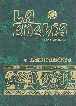 Biblia latinoamerica (letra grande cartone color uñeros),la