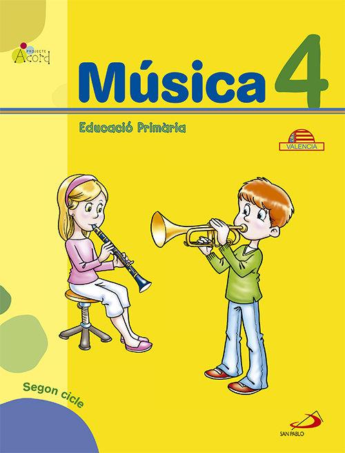 Musica 4ºep acord libro+cuad valencia 12
