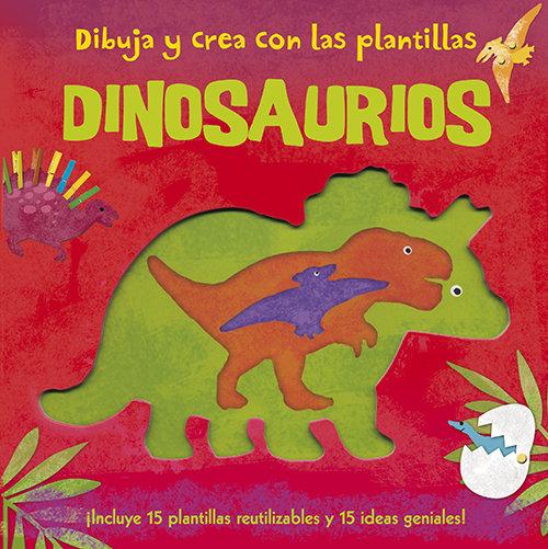 Dibuja y crea con las plantillas dinosaurios