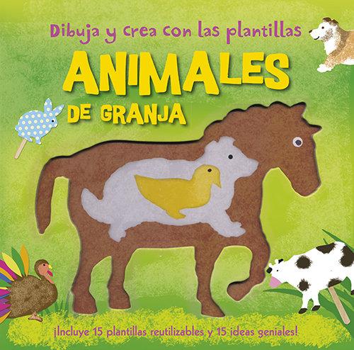 Dibuja y crea con las plantillas animales de granja