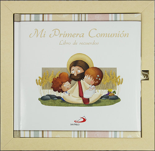 Mi primera comunion libro de recuerdos con estuche