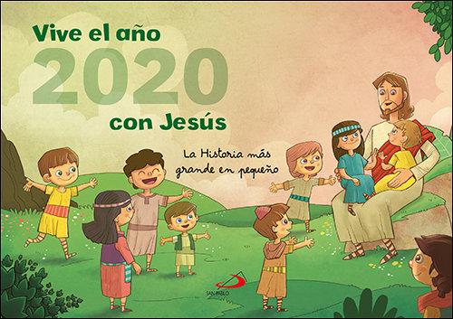 Calendario pared vive el año 2020 con jesus historia mas gr