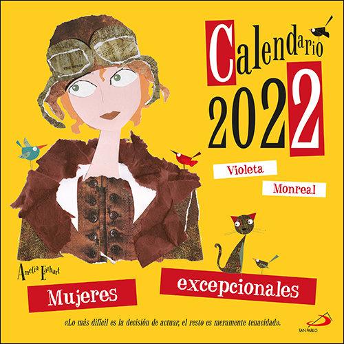 Calendario de pared mujeres excepcionales 2022