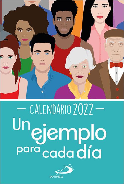 Calendario un ejemplo para cada dia 2022 tamaño grande