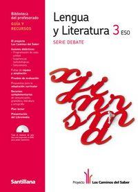 Lengua y literatura guia y recursos 3ºeso los caminos