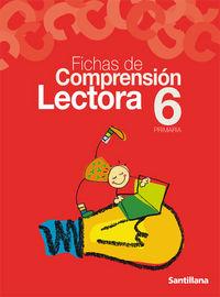 Fichas comprension lectora 6ºep 2003