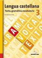 Lengua castellana texto gramatica vocabulario 3ºes