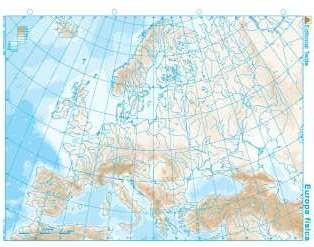 Mapa mudo europa fisico (100 uds)