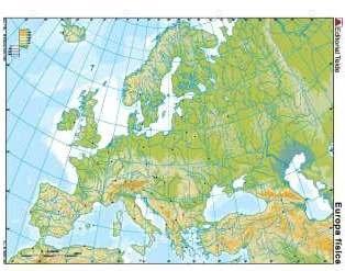 Mapa mudo europa fisica (color) (100 uds)