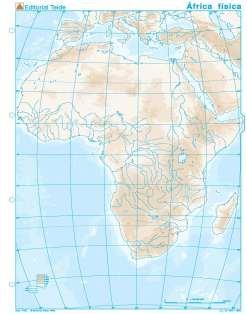 Mapa mudo africa fisico (100 uds)