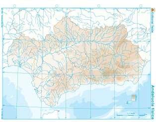 Mapa mudo andalucia fisico (100 uds)