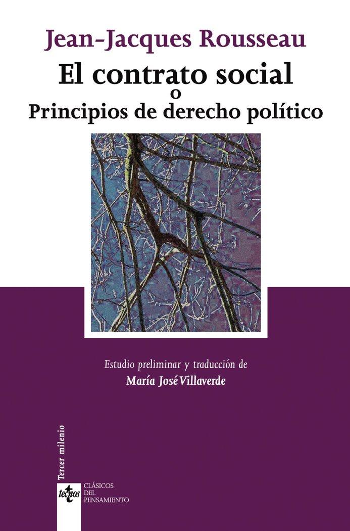 Contrato social o principios de derecho politico,el