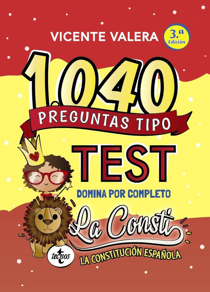 1040 preguntas tipo test la constitucion