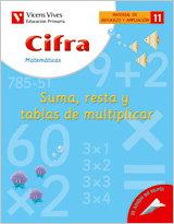 Cifra nº11 suma resta tablas multiplicar mater.ref