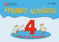 Aprendo numeros 4 3-4 años 08 ei