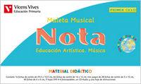 Maleta musical nota. musica. primer ciclo.