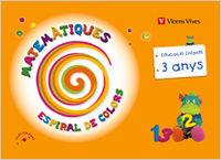 Matematiques 1 ei 3-4 anys baleares espiral colors