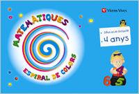 Matematiques 2 ei 4-5 anys catalan espiral colors