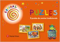 Puzles. capsa de puzles de contes tradicionals.