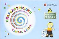 Cuaderno grafomotricidad 4años 10 espiral magica
