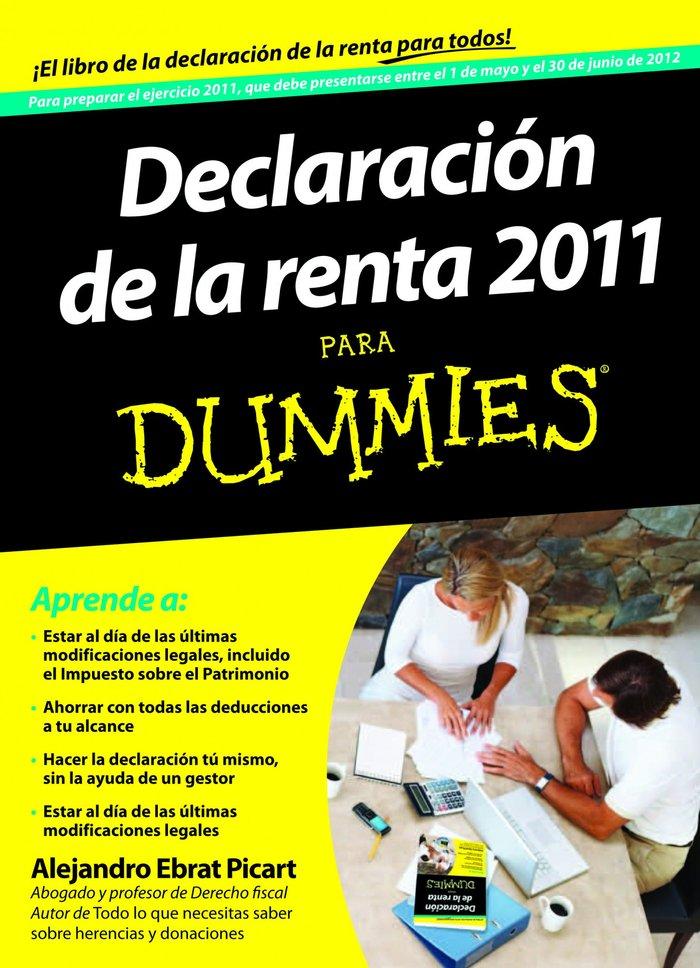 Declaracion de la renta 2011 para dummies