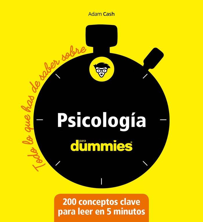 Todo lo que has de saber sobre psicologia para dummies