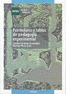 Formulario y tablas de pedagogia experimental