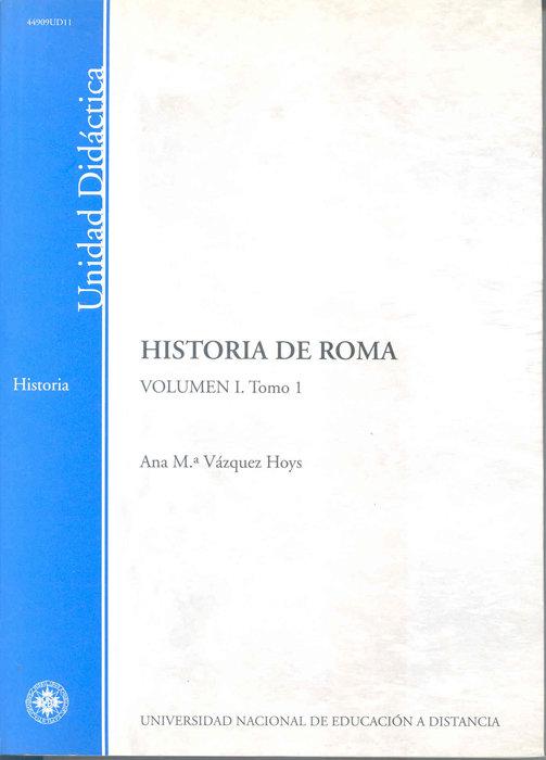 Historia de roma. volumen i. tomo 1