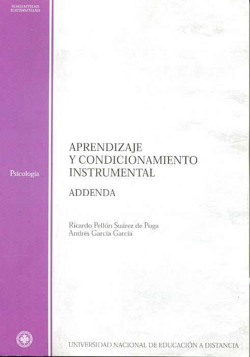 Aprendizaje y condicionamiento instrumental. adenda