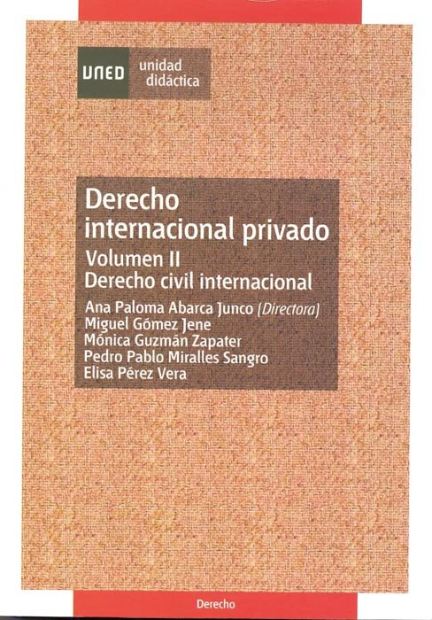 Derecho internacional privado. vol-ii. derecho civil interna