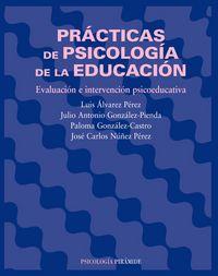 Practicas de psicologia de la educacion