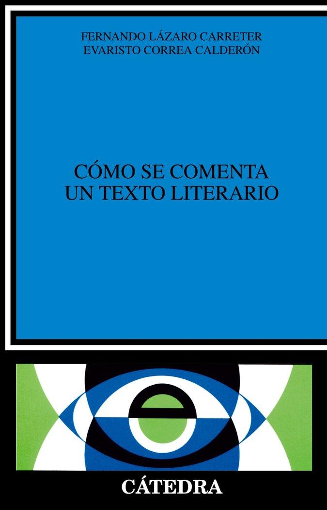 Como se comenta texto literario