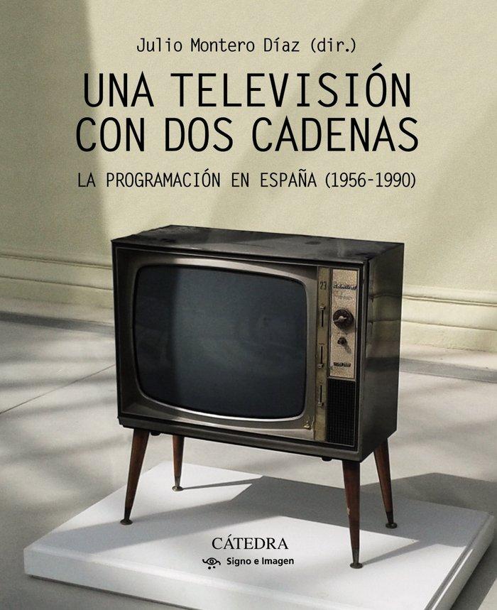 Una television con dos cadenas