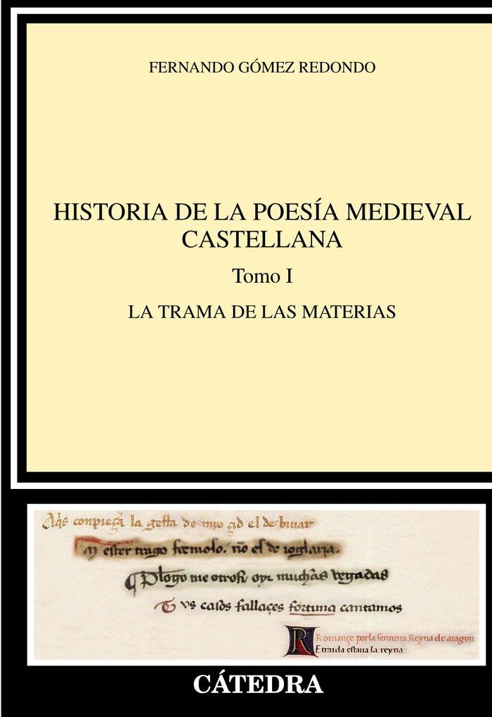 Historia de la poesia medieval castellana  i