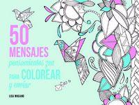 50 mensajes para colorear