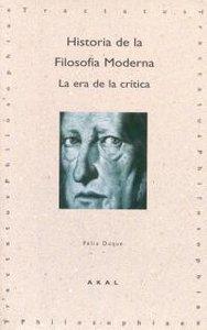 Ha.filosofia moderna era de la critica