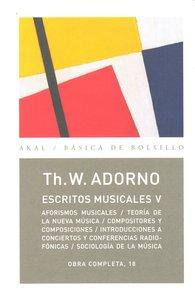Escritos musicales v o.c.nº18 adorno