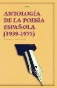 Antologia poesia española 1939-1975 nº24 akal literaturas