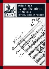 Edicion critica de la musica ha.metodo y practica