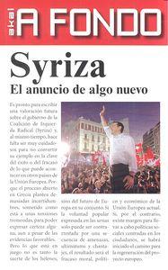 Syriza el anuncio de algo nuevo