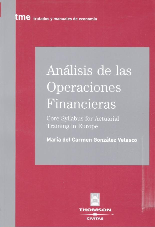 Analisis de las operaciones financieras 1ºed