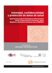 Intimidad, confidencialidad y proteccion de datos de salud -