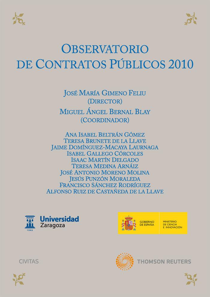 Observatorio de contratos publicos 2010