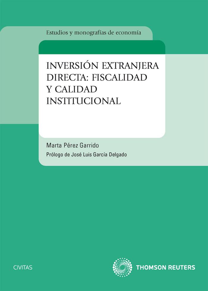 Inversion extranjera directa un analisis de la fiscalidad