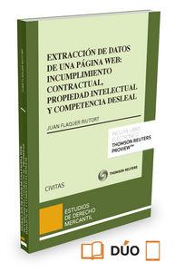Extraccion de datos de pagina web incumplimiento contrato