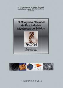 Ix congreso nacional de propiedades mecanicas de solidos